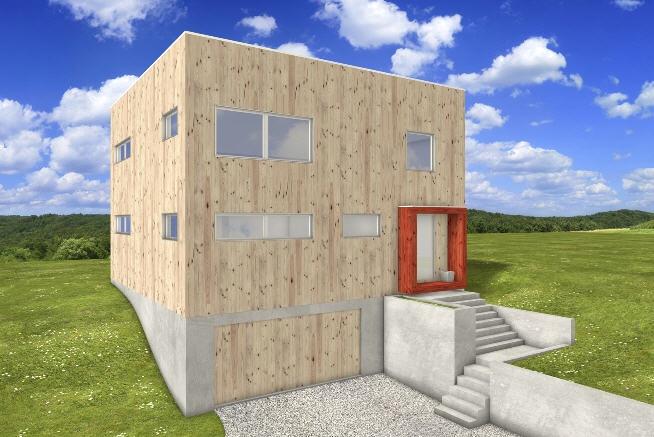 Free Green Modern Cube Cedar