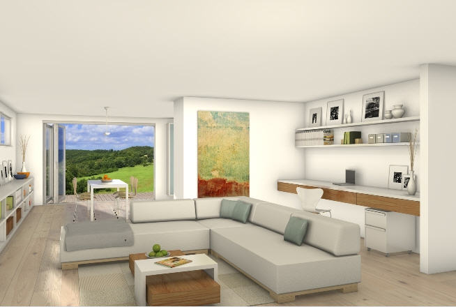 Free Green Modern Cube Living Room