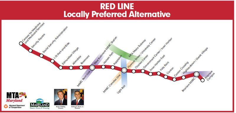 Maryland red line
