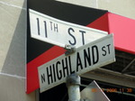 Highland_st_sign